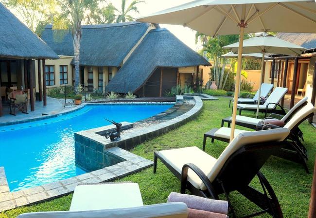 Lounge around the pool