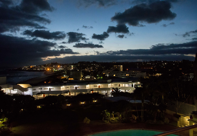 View from balcony at night