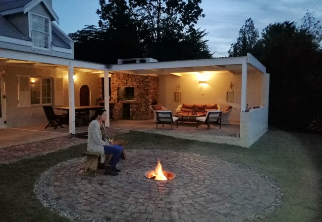 The outside firepit
