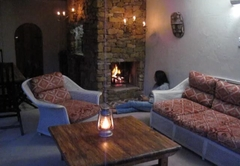 Fireplace and Barbecue outside lounge