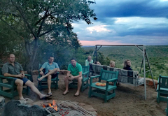 Boma braai area firepit to socialise in, with endless views