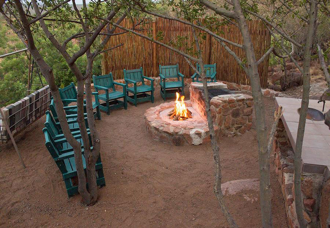 Bush Boma with fire pit