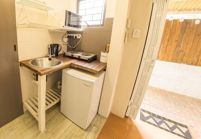 Budget room kitchenette