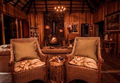Lounge facing fireplace