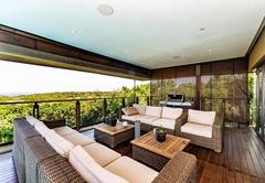 Covered patio sea views