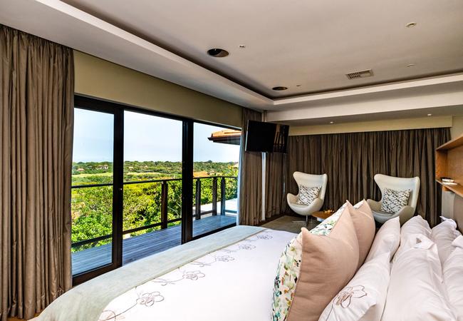 Master bedroom sea views