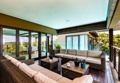 Outdoor patio with braai