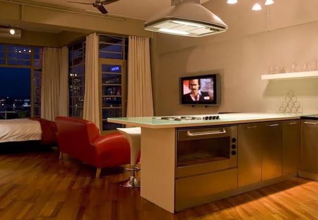 Open plan studio unit