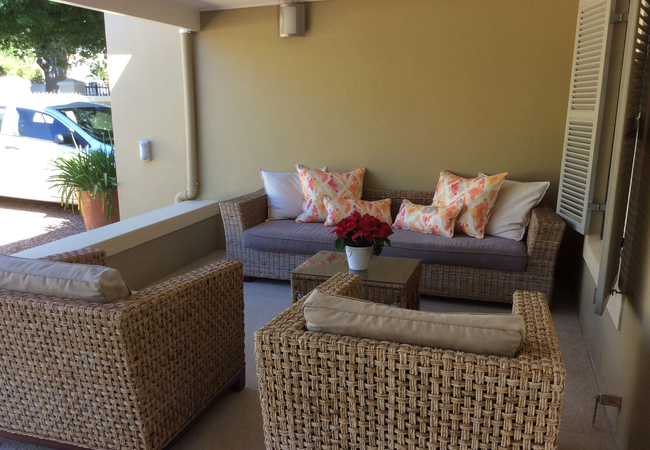 Outdoor living at front