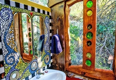 Fly Me To the Moon Forest Cabin bathroom