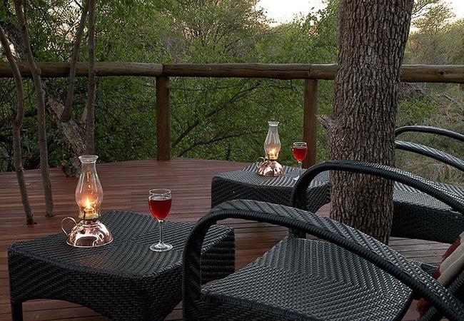 Bush Villa deck