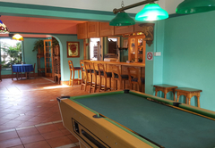 Pool table and bar area