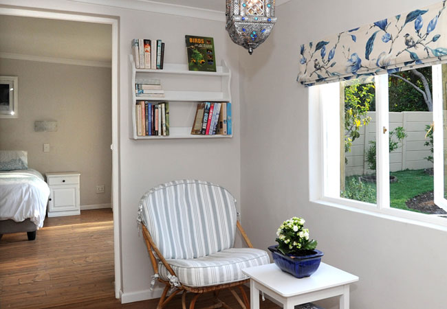 Reading alcove view to bedroom