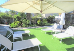 Sun chairs & garden area