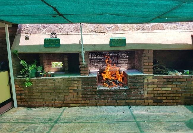 Braai area we pack fire
