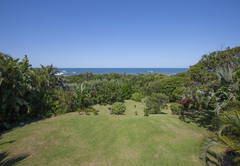 Garden with view to the Indian Ocean