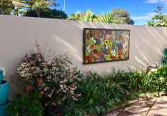 Mosaic in garden