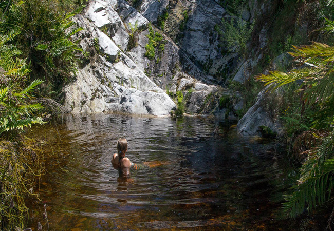 Swimming at Phillipskop Mountain Reserve