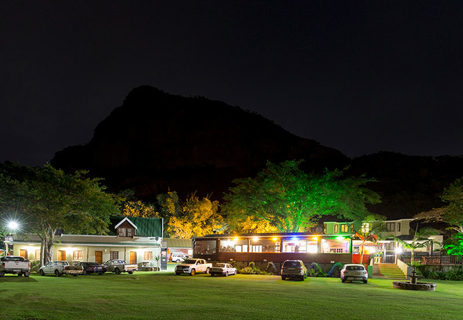 Port St Johns River Lodge at night
