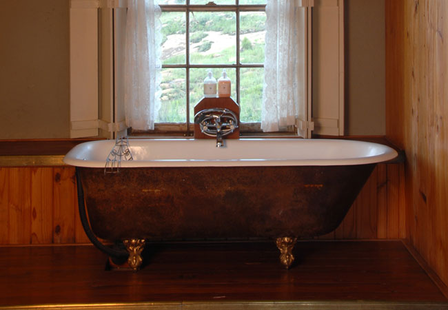 Room 3 - Slipper bath with its own view.