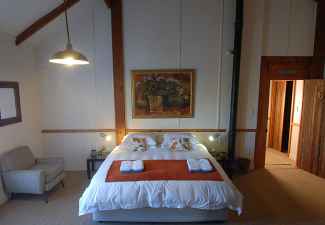 Room 6 - King bed, french doors,fireplace, own entrance and balcony.