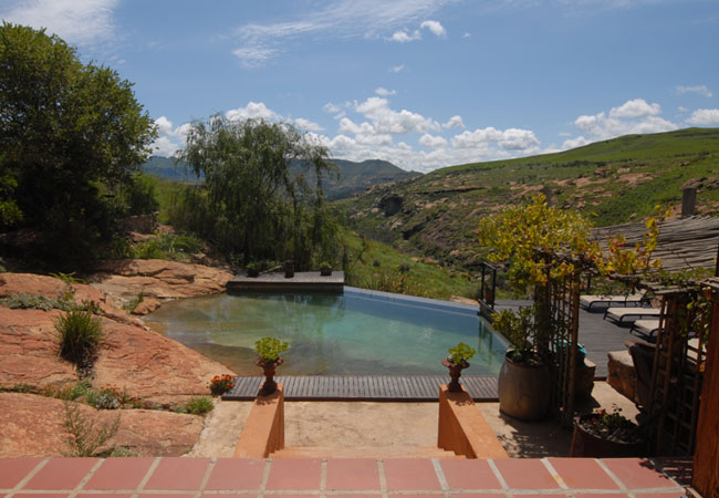 The pool and braai area