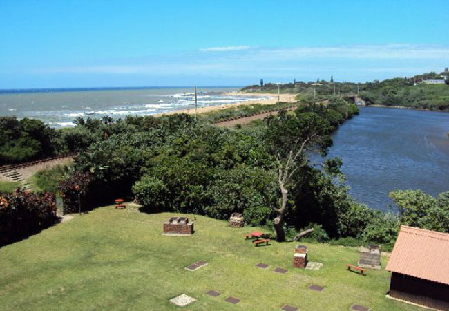 Complex braai areas and view