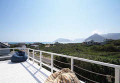 Upstairs Deck with sea and mountain views
