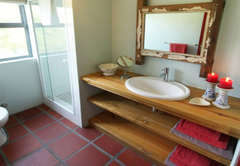 Downstairs second Bathroom with Shower Toilet and Handbasin