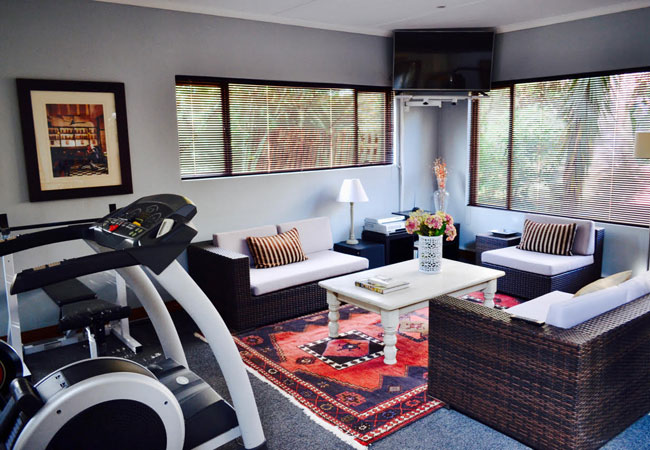 Lounge and gym
