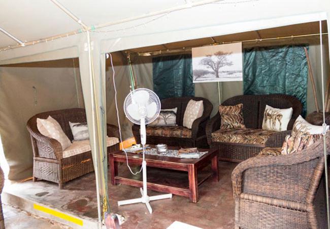 Luxury Tent living room