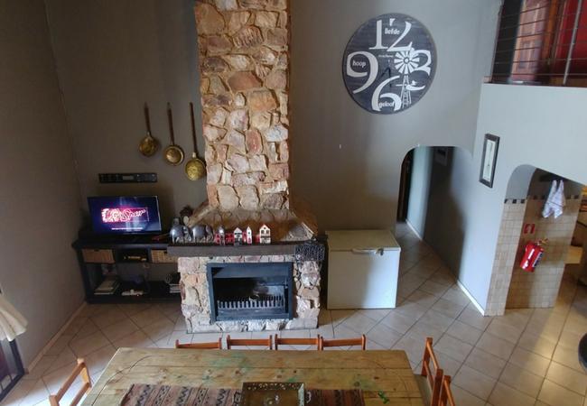 Red Sky Lodge fireplace