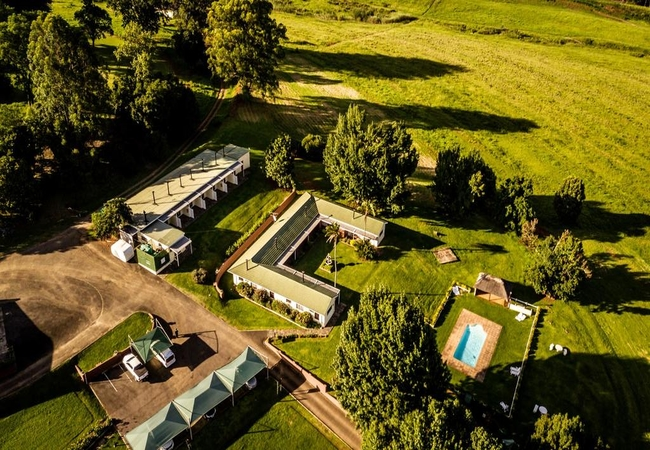 Ariel View of the lodge