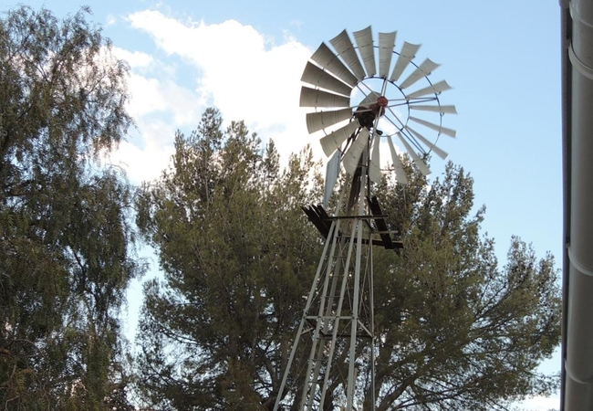 OUR OWN WINDMILL ON PROPERTY
