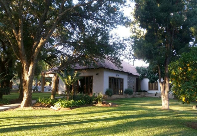 Front view of the guest house from the braai area