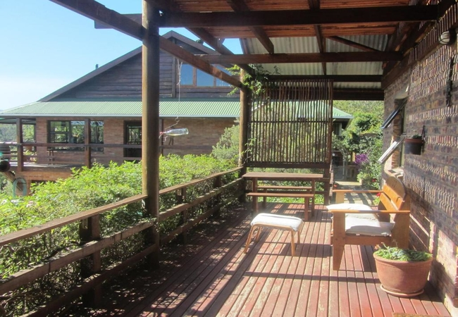 Deck and main house
