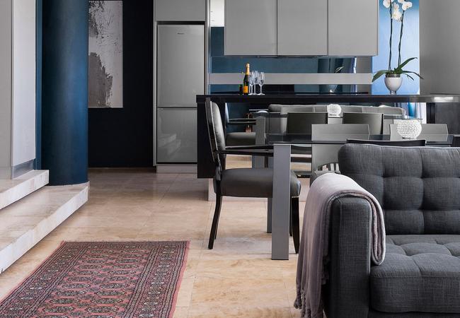 Apartment 1602 Dining & Kitchen Area