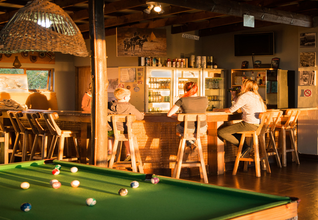 Bar with pool table
