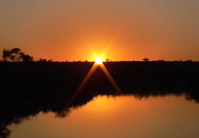 Sunset over the waterhole