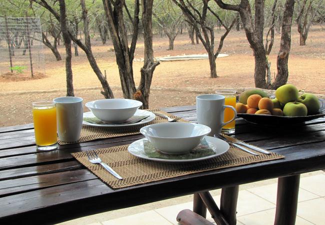 Breakfast on patio