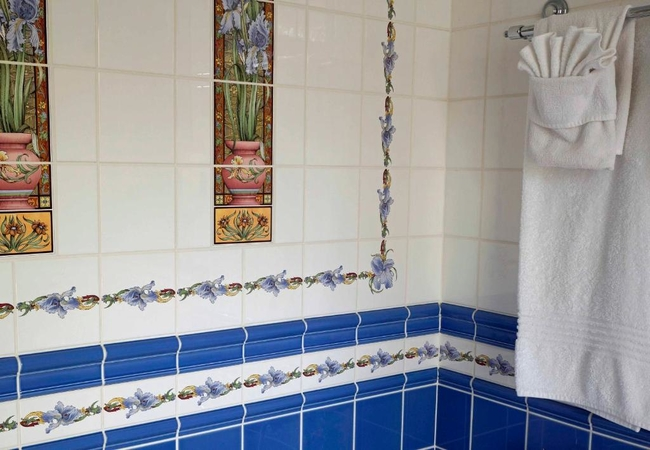 Deluxe room with shower and bath