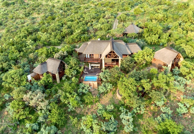Arial view of Warthog Lodge