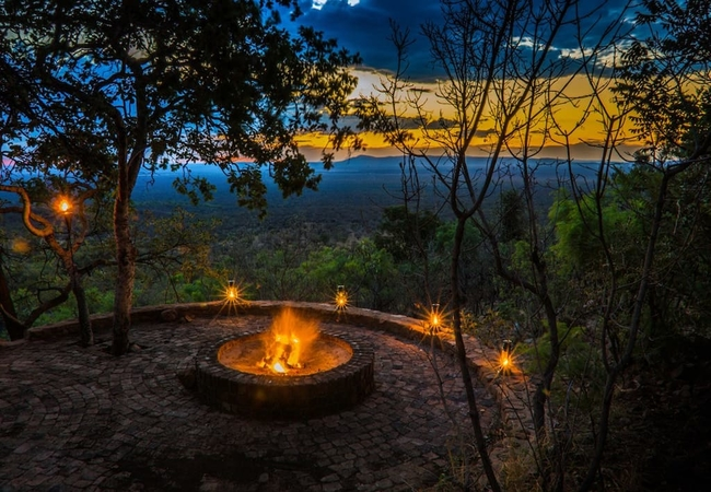 Boma fire and sunset
