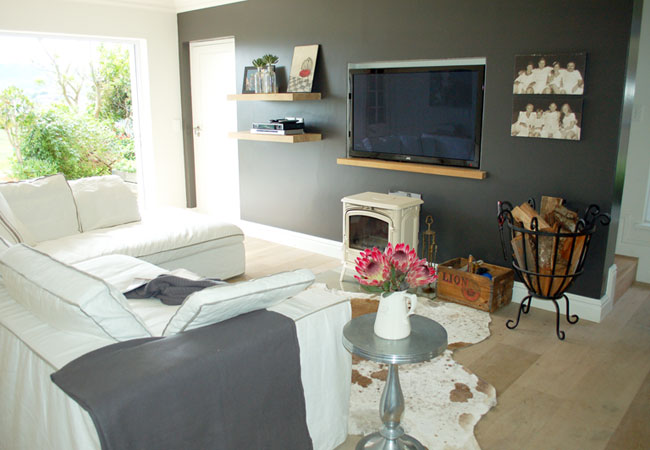 TV room with Morso fire place