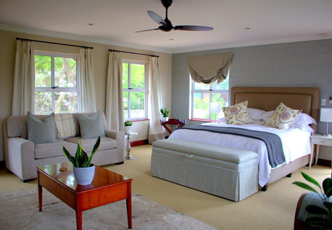 Luxury bedroom and living area
