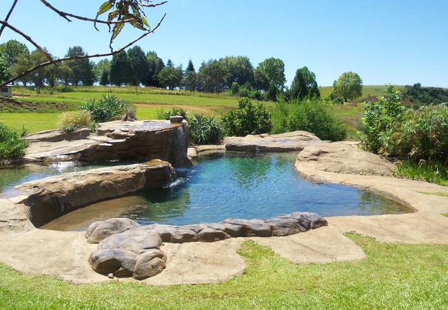 2 large rock pools