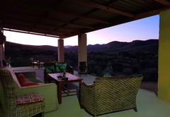 Sunset views from restaurant
